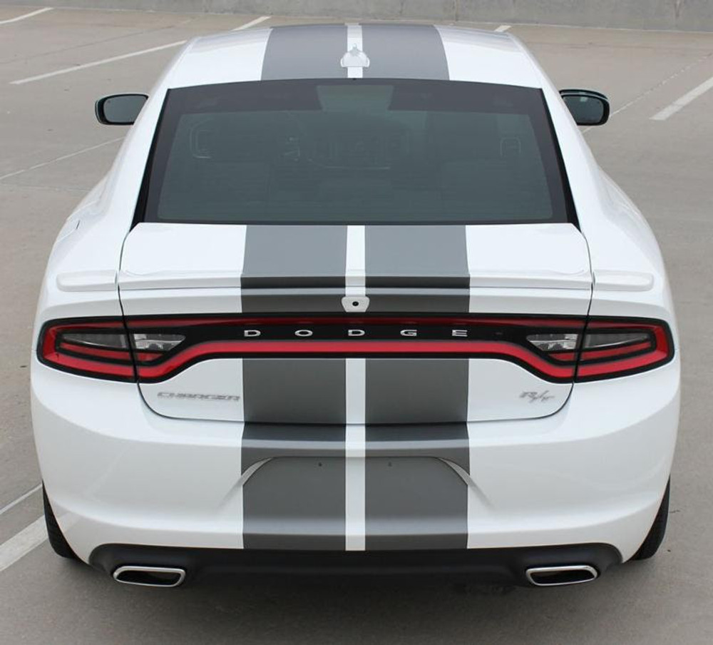 Dodge Charger N-Charge Rally Stripes Graphic Kit Rear View