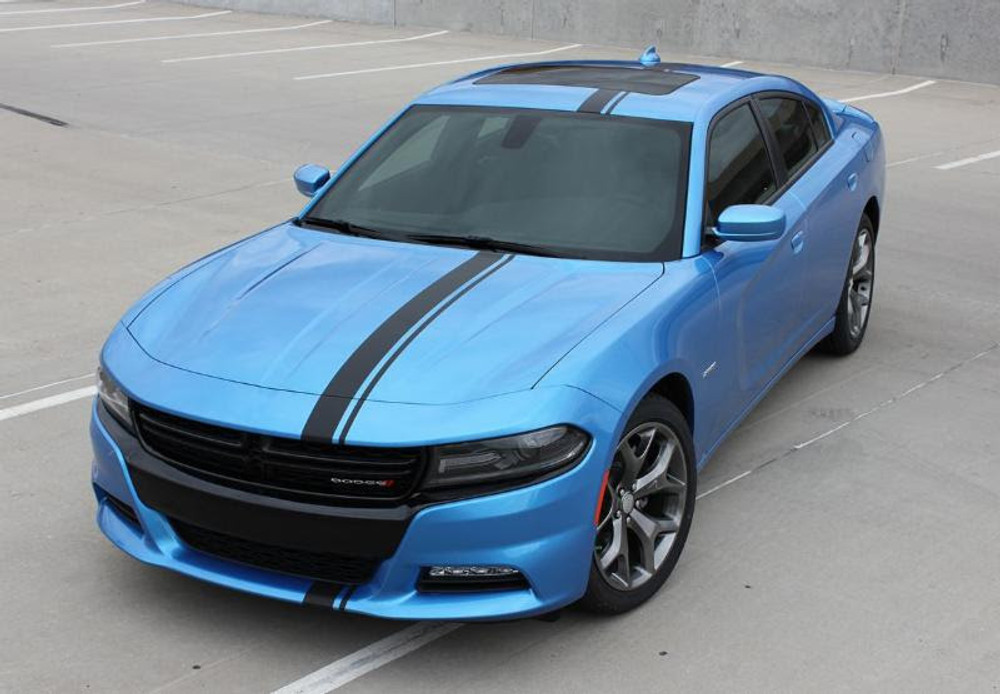stripeman.com 2015-2019 Charger E-Rally Graphic Kit Front View