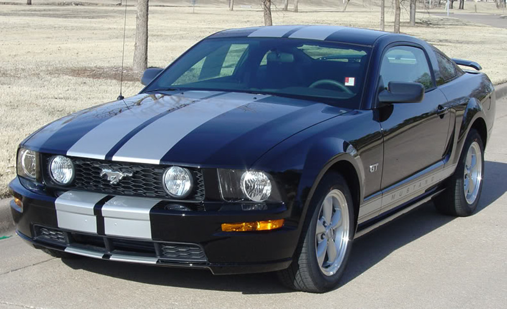 2005-2009 Ford Mustang S-500 / S-501 Racing Stripe Kit Diagonal View