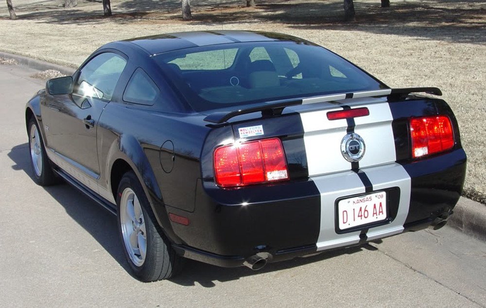 2005-2009 Ford Mustang S-500 / S-501 Racing Stripe Kit Diagonal Rear View