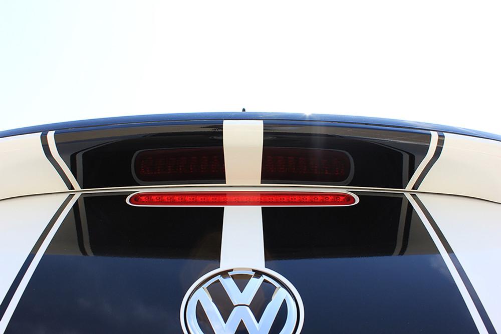 stripeman.com 2012-2019 Volkswagen Beetle Rally Stripe Kit Rear Zoom View