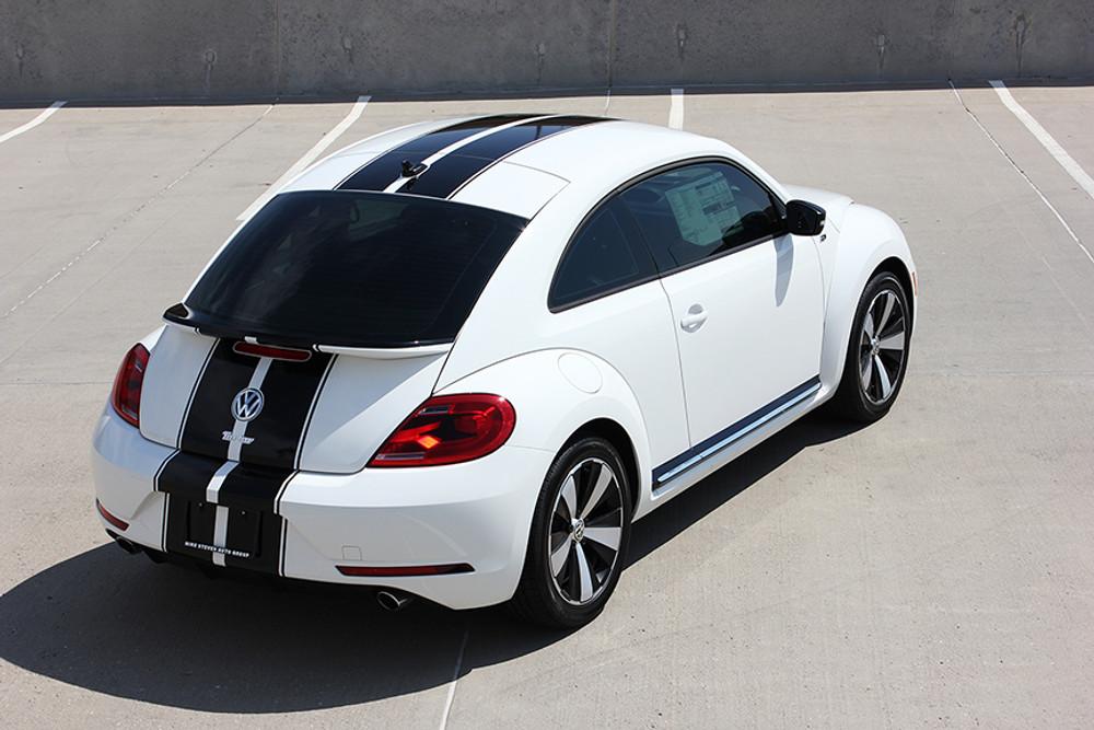 stripeman.com 2012-2019 Volkswagen Beetle Rally Stripe Kit Rear View