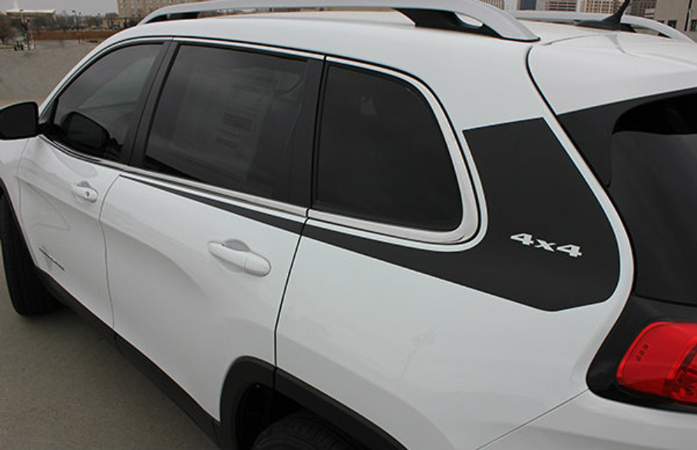 2014 2015 2016 2017 Jeep Cherokee Warrior Side Vinyl Stripes Graphic Kit Back Side