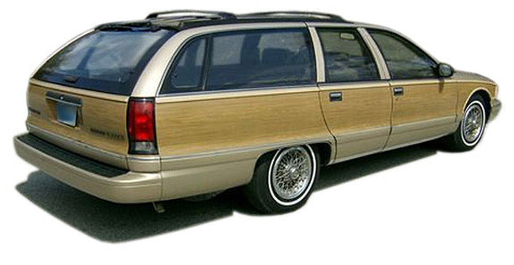 91-96 Chevrolet Caprice Wagon Burma Teak Digital Reproduction Wood Grain Replacement Kit