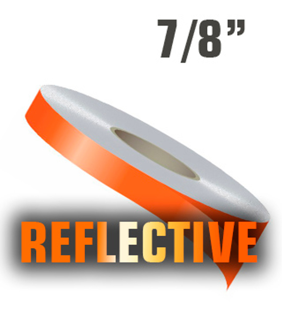 """7/8"""" Reflective Solid Stripe Roll"""
