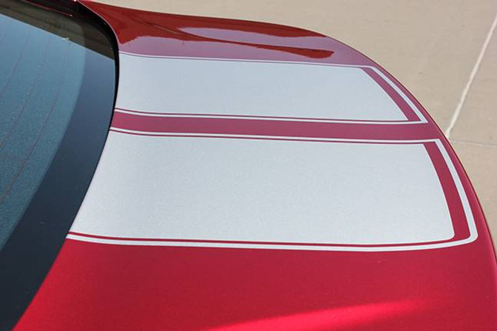 Stripeman.com 2016-2019 Chevy Cruze Drift Rally Stripe Kit Deck lid detail