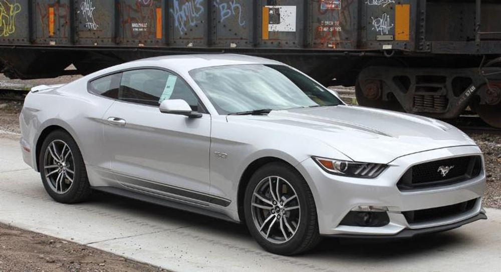 2015-2017 Ford Mustang Faded Rocker Stripe Kit Side View