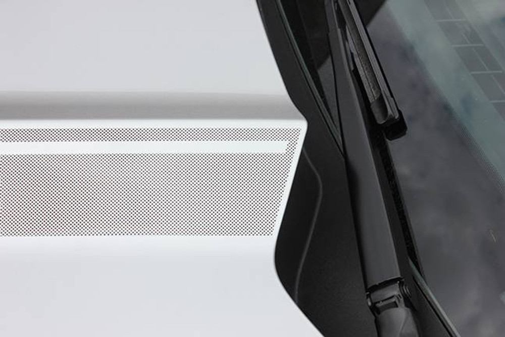 2015-2017 Ford Mustang Faded Hood Spears Graphic Kit Close Up Rear View