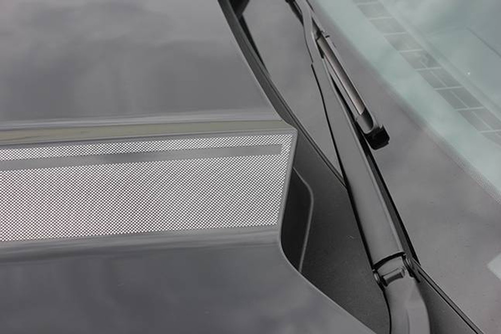 2015-2017 Ford Mustang Faded Hood Spears Graphic Kit Close Up Rear Silver View