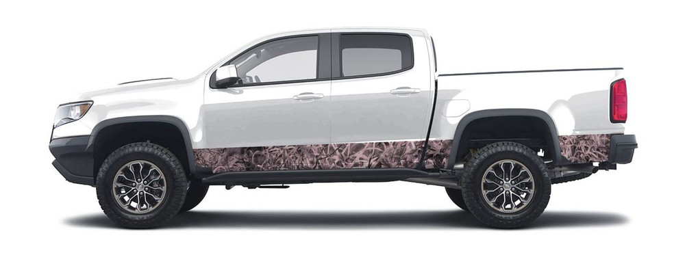Pink Grassland Camo - Non repeating pattern created by Aurora Graphics