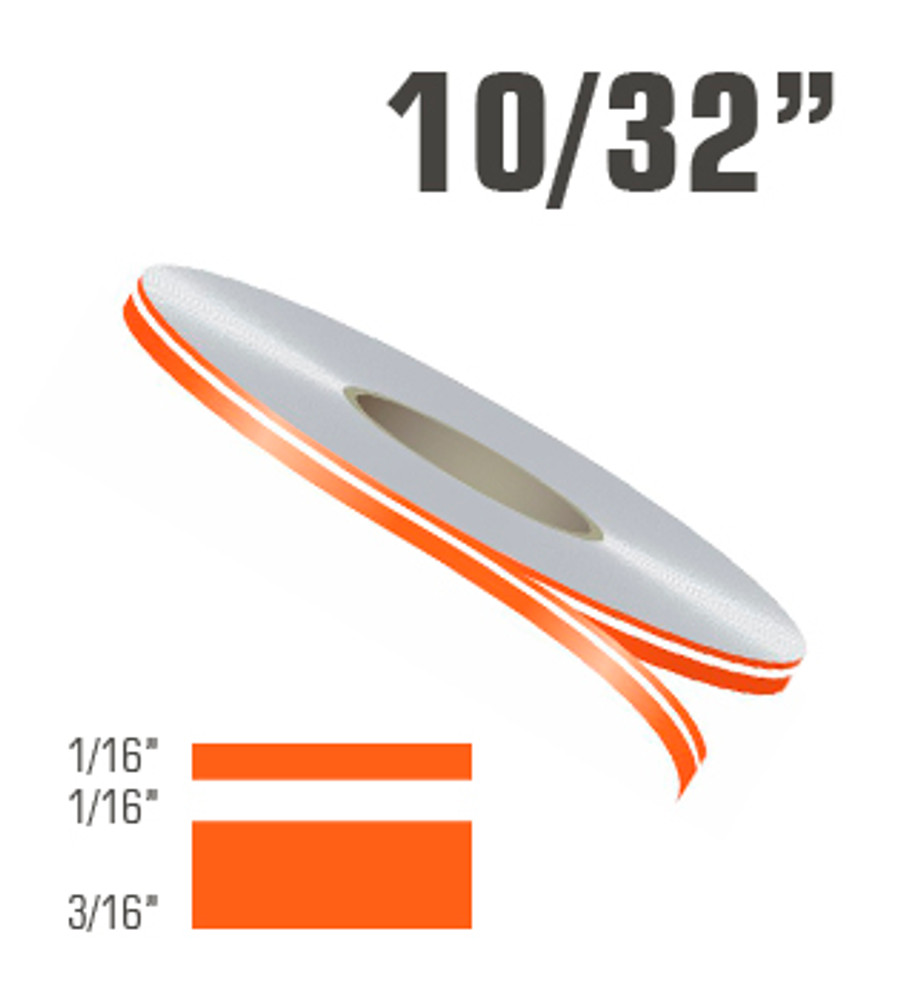"""10/32"""" x 150' Double Line Single Color Car Pinstripes Roll"""