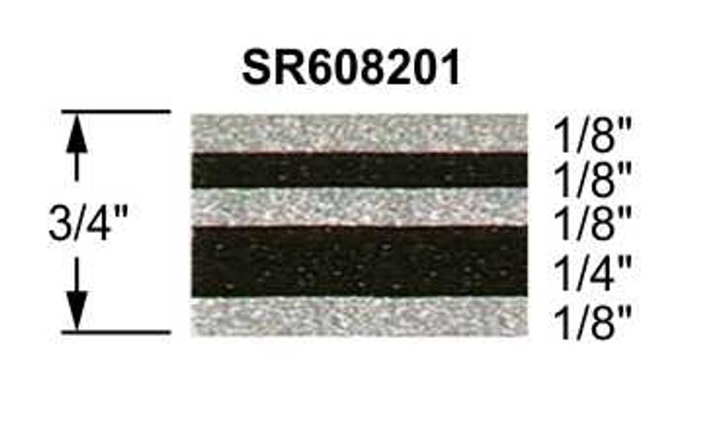 "3/4"" Truck Stripes Paint Break Silver Metallic and Black Metallic | 50 ft roll"