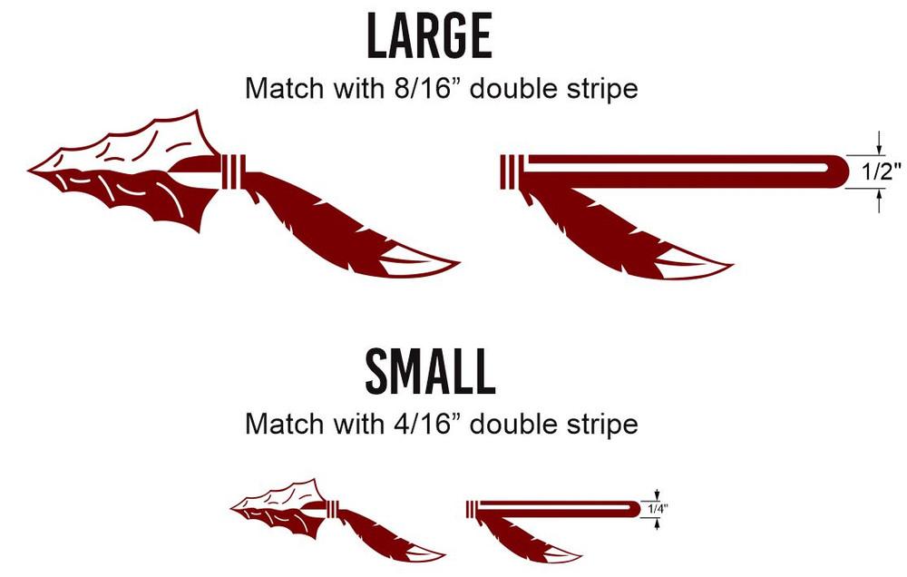 Stripeman.com Arrowhead Pinstripe Decal Set Accent Points