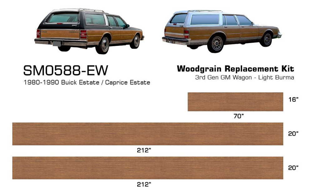 Stripeman.com - GM Estate Wagon Woodgrain Kit