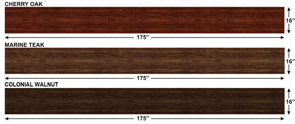 Wood Grain Continuous Bulk Panel Kit Measurements by Stripeman.com