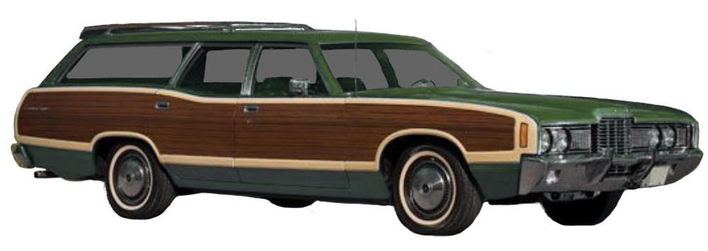 1971 - 1972 Ford Country Squire LTD Wagon Woodgrain Kit by Stripeman.com