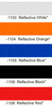 """1/4"""" X 50' Reflective Solid Stripe Roll Color Chart"""