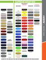 stripeman.com 4/16 Inch Double Line Single Color Vinyl Pinstripe Roll Color Chart Page