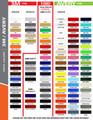 stripeman.com 2 Inch Wide Single Line Single Color Vinyl Stripe Roll Color Chart Page 1