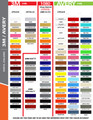 stripeman.com 3 Inch Wide Single Line Single Color Vinyl Stripe Roll Color Chart Page 1