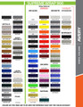stripeman.com 4 Inch Wide Single Line Single Color Vinyl Stripe Roll Color Chart Page 2