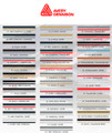 Stripeman.com Avery Two Color Stripe Roll Color Chart