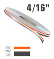 4/16 Inch Two Color Double Line Vinyl Pinstripe Roll