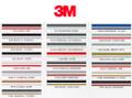 Stripeman.com 3M Two Color Double Line Vinyl Pinstripe Roll Color Chart