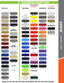 stripeman.com Ford Mustang Fastback 2 Graphic & Decal Kit Color Chart Page 2