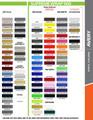 stripeman.com 2010-2012 Ford Mustang Dominator Hood Kit Color Chart Page 2