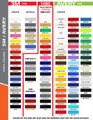 2015-2017 Ford Mustang Double Bar Graphic Kit Color Chart Page 1