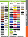 2005-2009 Ford Mustang S-500 / S-501 Racing Stripe Kit Color Chart Page 2