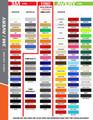 www.stripeman.com Chevy Spark Flash Vinyl Side Stripes Graphic Kit Color Chart Page 1