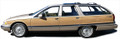 91-96 Buick Roadmaster Wagon Burma Teak Digital Reproduction Wood Grain Vinyl Replacement Kit