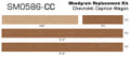 91-96 Chevrolet Caprice Wagon Burma Teak Digital Reproduction Wood Grain Replacement Kit Measurememts by stripeman.com