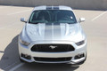 2015-2017 Ford Mustang Faded Rally Racing Stripe Kit Front View