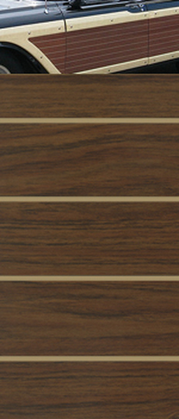 Colonial Teak w/Tan Lines Digital Reproduction Wood Grain Vinyl