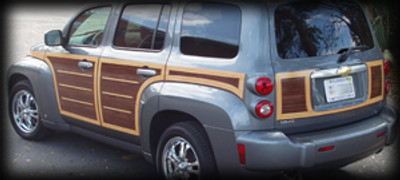 Chevrolet HHR Woody Car & Panel Van Wood Grain Vinyl Kit