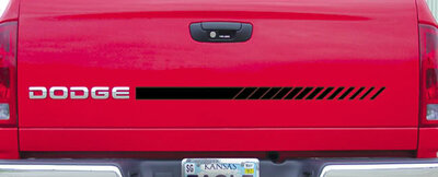 Mini Strobe Versatile Graphic Kit Shown on Tail Gate