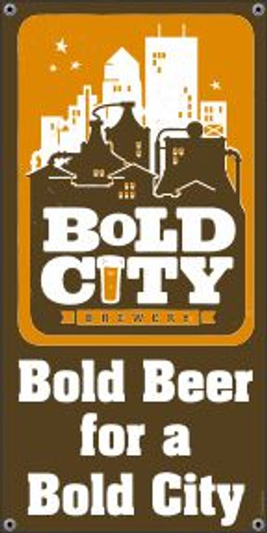 "Bold City Brewery 18.5"" X 36"" Logo Banner"