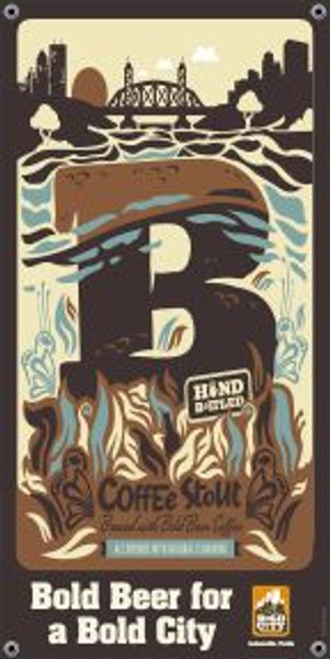 "Bold City Brewery 18.5"" X 36"" Coffee Stout Banner"