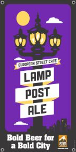"Bold City Brewery 18.5"" X 36"" Lamp Post Ale Banner"