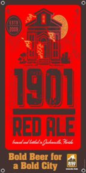 "Bold City Brewery 18.5"" X 36"" 1901 Red Ale Banner"