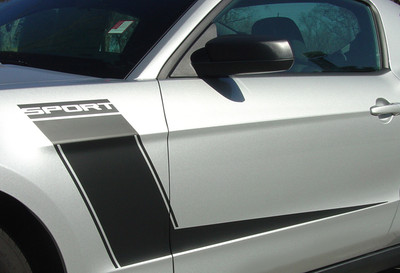 stripeman.com 2010-2012 Ford Mustang Launch Graphic Kit Close Up