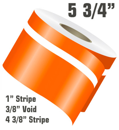 5 3/4 Euro Rally Double Line Single Color Vinyl Stripe Roll Configuration