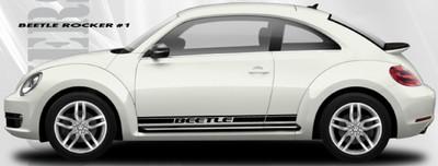stripeman.com 2012-2019 Volkswagen Beetle Rocker 1 Stripe Vinyl Graphic Kit Side View