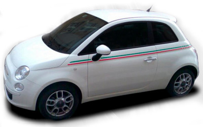 2011-2017 Fiat 500 Italian Side Stripe