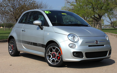 2011-2017 Fiat 500 Rocker Strobe Stripe Vinyl Graphic Kit