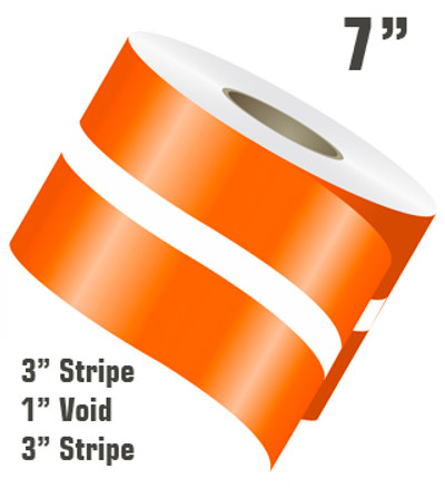 7 inch Single Color Double Line Rally Vinyl Stripe Roll Configuration