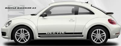 stripeman.com 2012-2019 Volkswagen Beetle Rocker 2 Stripe Vinyl Graphic Kit Side View
